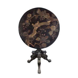 Meiji Period Lacquered Tilt-Top Table