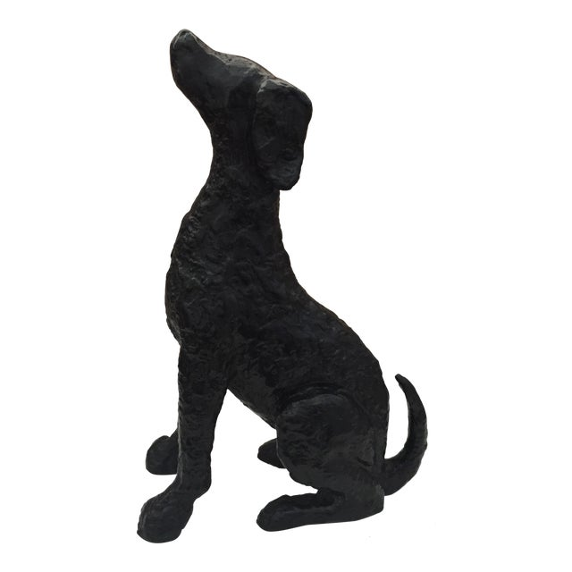 Metal Hound Dog Figurine - Image 1 of 6