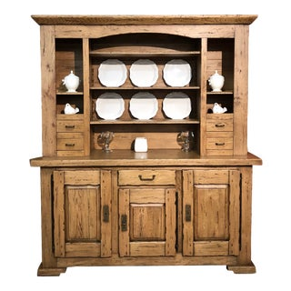 Italian Solid Oak Buffet For Sale
