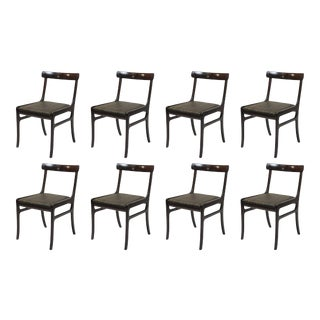 Mid Century Ole Wanscher Mahogany Dining Chairs- Set of 8 For Sale