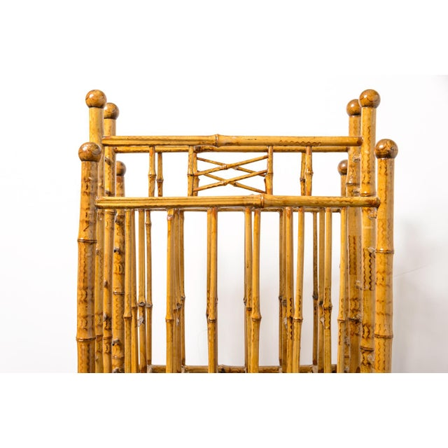 1920s Antique English Root Bamboo Magazine Holder, 1900s For Sale - Image 5 of 10