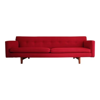 Edward Wormley for Dunbar Mid-Century Red Sofa