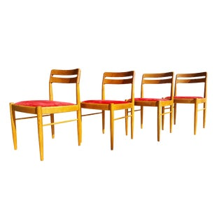 H.W. Klein for Bramin Møbler 1960s Danish Mid-Century Modern Dining Chairs - Set of 4