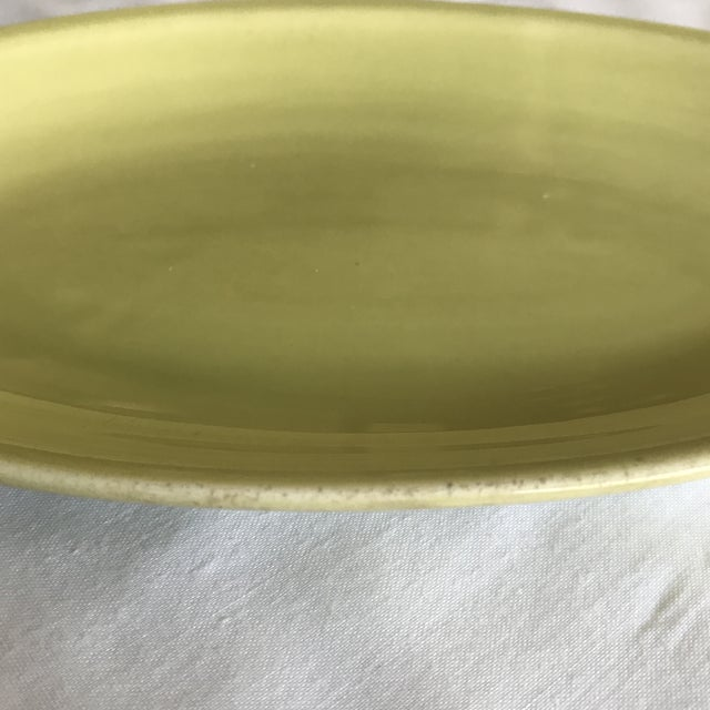 1951 Paden City Pottery Chartreuse Platter For Sale In Cincinnati - Image 6 of 7