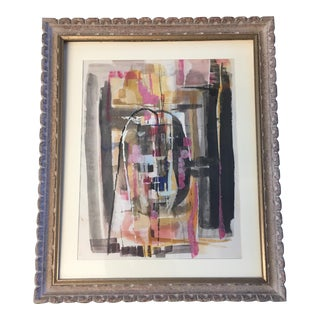 Original Bernard Segal Modernist Abstract Painting