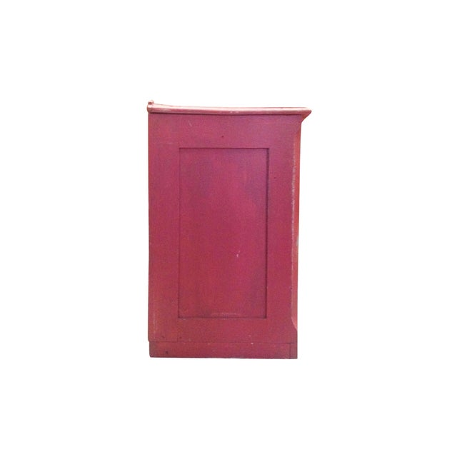 Red Painted Commode Chest - Image 6 of 7
