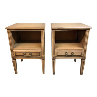 Vintage Hand-Painted Night Stands by Herald Furniture, a Pair For Sale