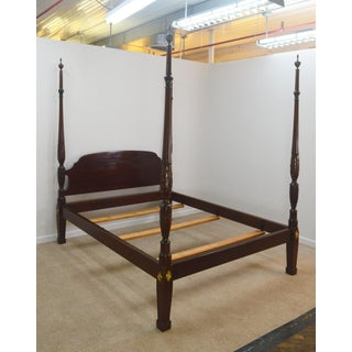 Chippendale Stickley Solid Mahogany Queen Poster Bedframe Preview