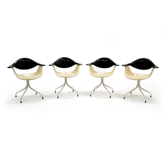 1950s Vintage George Nelson Swag Leg Model Daf Chairs- Set of 4 For Sale - Image 10 of 10