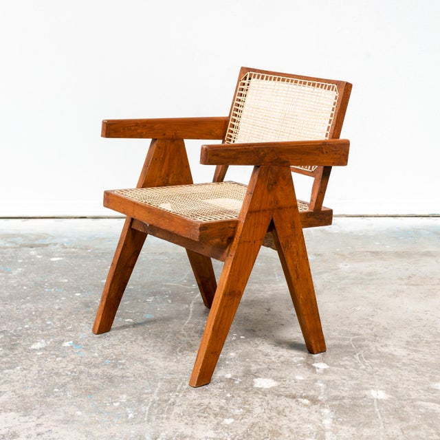 Office Armchair by Pierre Jeanneret, India, 1950s For Sale - Image 9 of 9