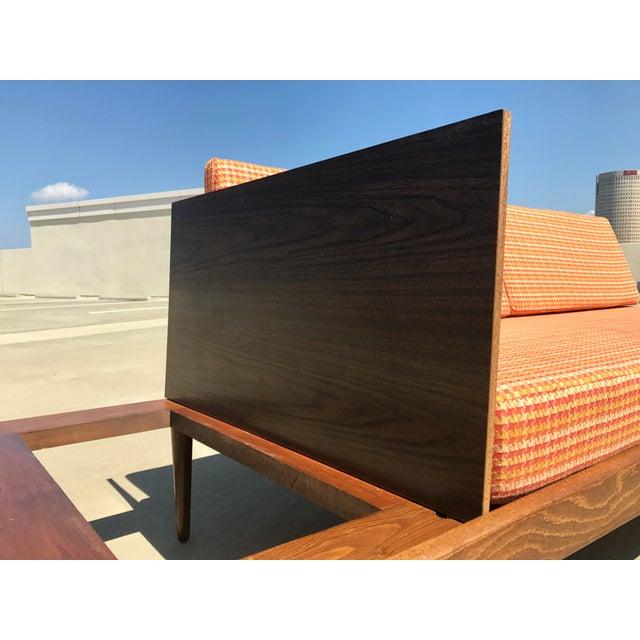 Orange Mid-Century Formica Platform Sofa For Sale - Image 8 of 11