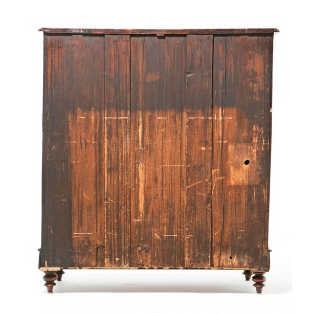 19th Century English Victorian Mahogany Chest For Sale - Image 4 of 9