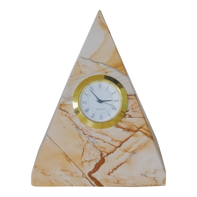 Vintage Marble Pyramid Clock For Sale