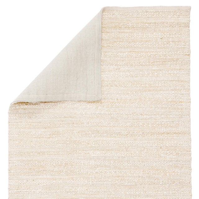 Jaipur Living Canterbury Handmade Solid White/ Beige Area Rug - 2′6″ × 4′ For Sale - Image 4 of 6