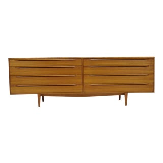 Ib Kofod-Larsen Teak Eight Drawer Dresser For Sale