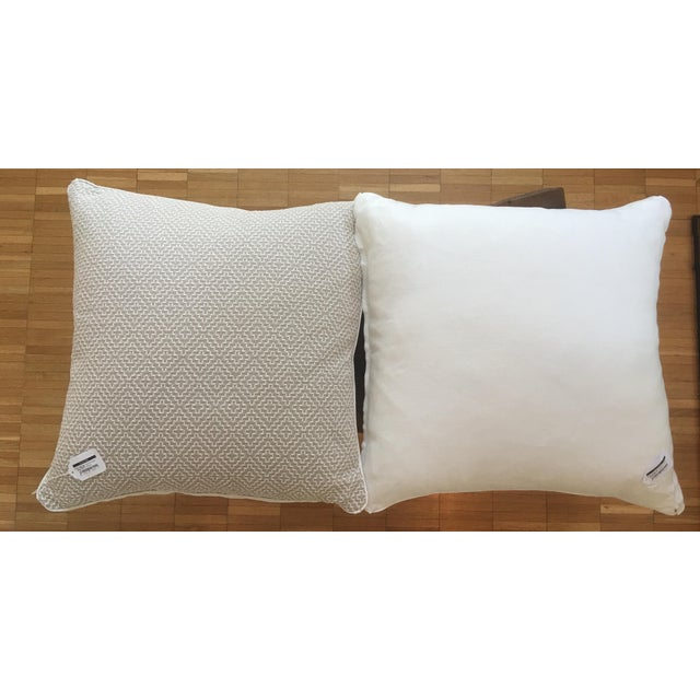 Oatmeal Linen Pillows - A Pair - Image 2 of 6