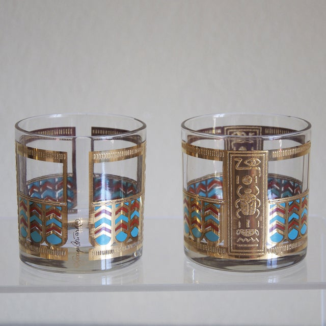Georges Briard Egyptian Rocks Glasses - Set of 6 For Sale In Dallas - Image 6 of 6
