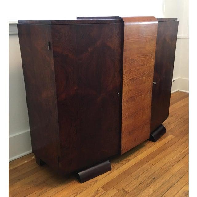 1930s Modernist Art Deco Rosewood Bar Cabinet - Image 4 of 10