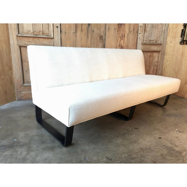 Vintage Mid Century Edward Wormley for Dunbar Slipper Sofa For Sale - Image 13 of 13