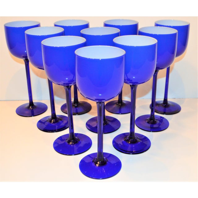This is a FAB set of ten vintage wine glasses designed by Carlo Moretti in the 1960s. These glasses are in a beautiful...