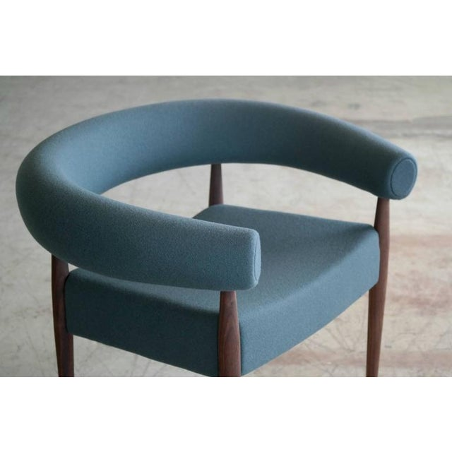 1960s Nanna Ditzel for Getama Ring Chairs in Walnut and Wool - a Pair For Sale - Image 5 of 12