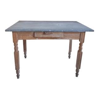 Antique Farm Table - Zinc Top For Sale
