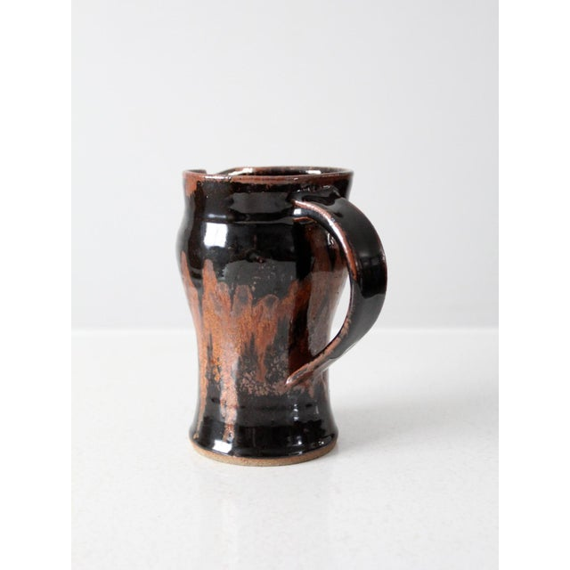 Late 20th Century Vintage Studio Pottery Pitcher For Sale - Image 6 of 10