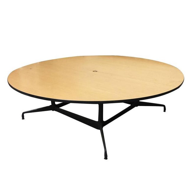 Charles And Ray Eames Round Foot Conference Table By Herman - Large round meeting table