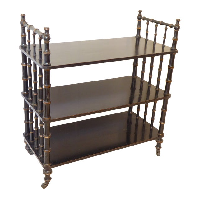 Antique Regency Style Laquered Etagere For Sale