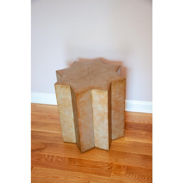 Henredon Leather Star Side Table For Sale In New York - Image 6 of 6