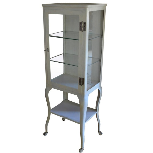 Apothecary Dental Steel and Glass Cabinet - Image 1 of 10