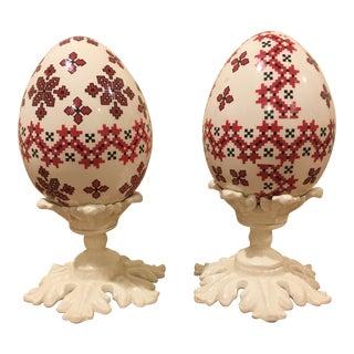 Vintage Ukrainian Eggs - a Pair For Sale