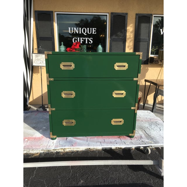 1970's Campaign Chest of Drawers For Sale - Image 10 of 10