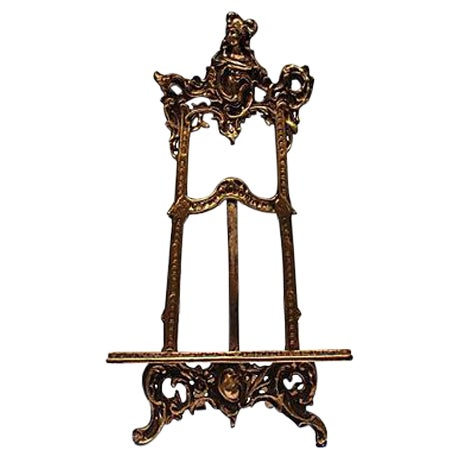 Art Nouveau Cast Brass Easel - Image 1 of 5
