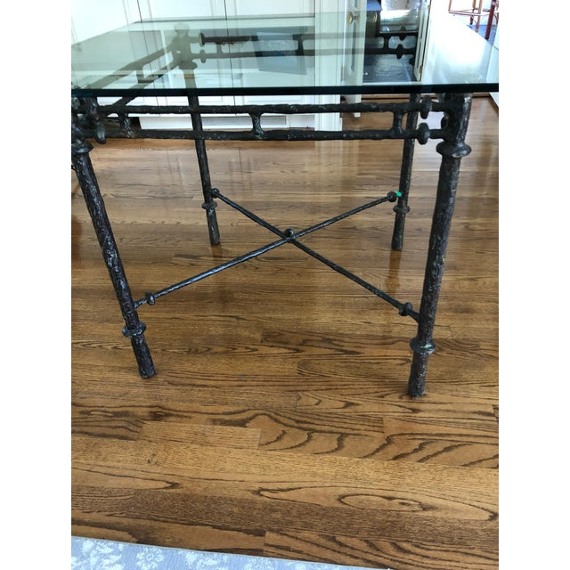 1960s Italian Cast Aluminum Dining Table For Sale - Image 9 of 13