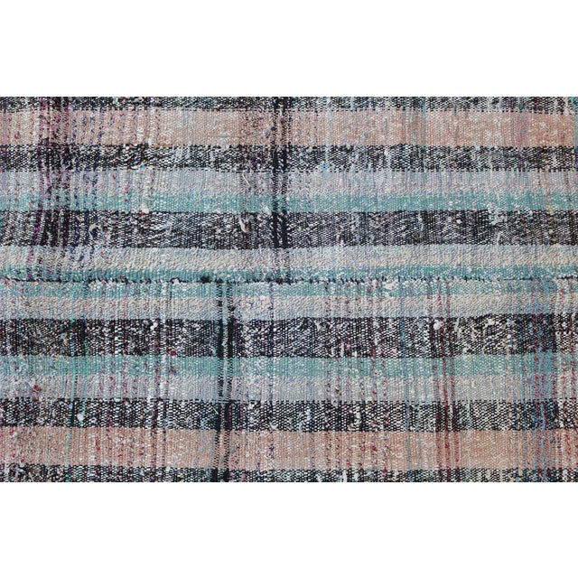 Vintage Turkish Multi Color Flatweave Rug - 7′8″ × 10′1″ - Image 4 of 6