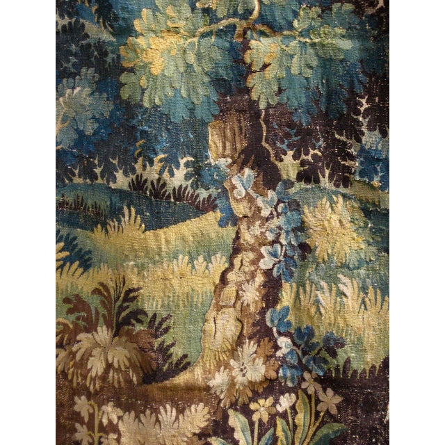 18th Century 18th Century Flemish Verdure Tapestry Wall Hanging For Sale - Image 5 of 13