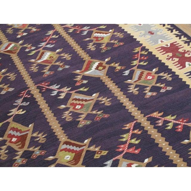 Fabric Balkan Kilim For Sale - Image 7 of 7