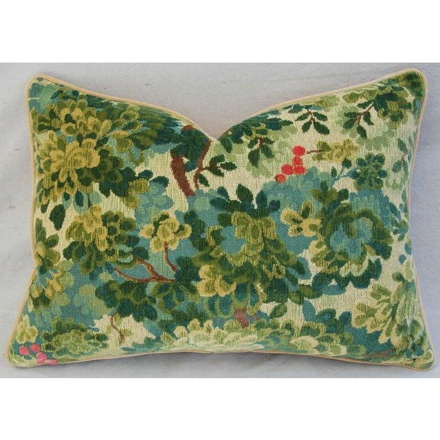 Designer Scalamandre Velvet Marly Pillows - Pair - Image 4 of 11