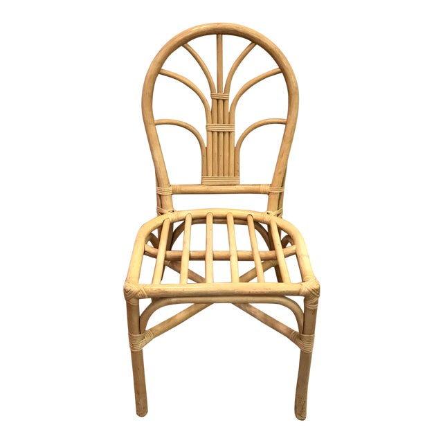 Vintage Mid Century Bamboo Chair For Sale