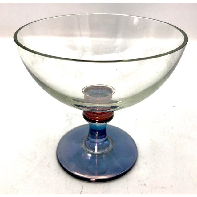 Stunning vintage italian crystal bowl from the 1960s that sings. This style of Cristalleria is made in Venice and is known...