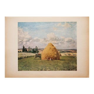 "1930s Camille Pissarro, Rare Original ""The Grinding Wheel"" Lithograph For Sale"
