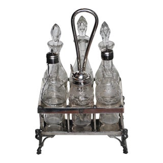 Reed and Barton Silver Plated Cruet Set - 14 Pieces For Sale