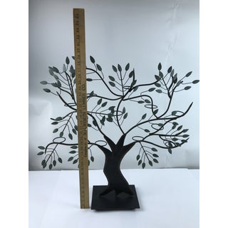 Modern Tole Painted Tree of Life Votive Candle Holder Preview