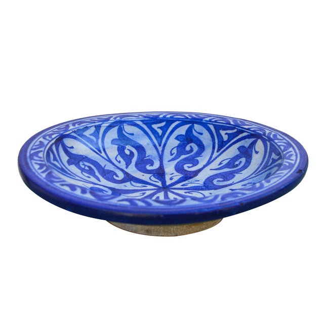 Early 20th Century Moorish-Patterned Ceramic Plate For Sale - Image 5 of 7