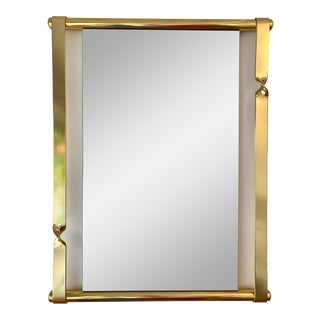 1970s Brass Mirror by Luciano Frigerio, Italy For Sale
