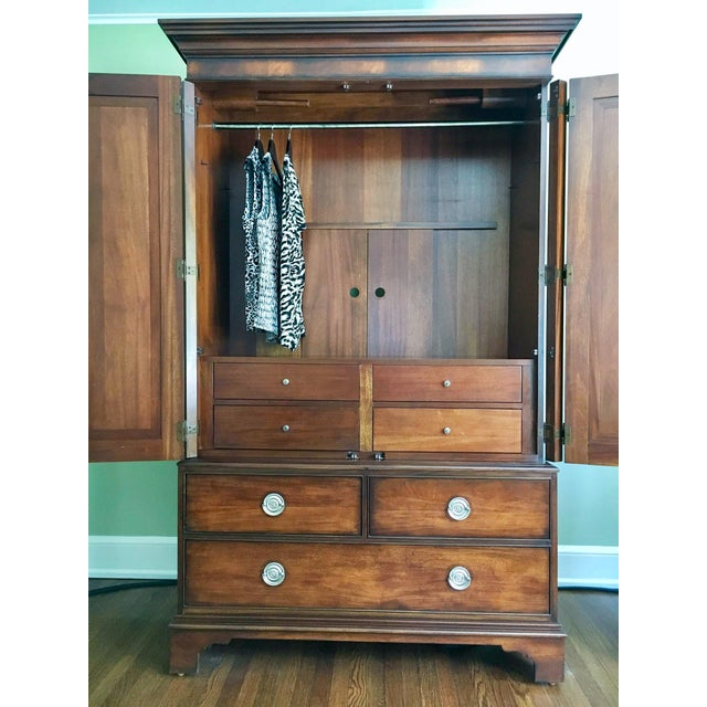 Ethan Allen Newport Collection Mahogany Armoire For Sale In New York - Image 6 of 12