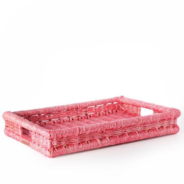 Boho Chic Rectangular Tray Peony For Sale - Image 3 of 3