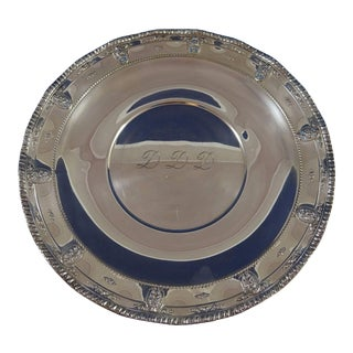 """Rose Point by Wallace Sterling Silver Serving Platter 18"""" Huge #4381 (#1101) For Sale"""