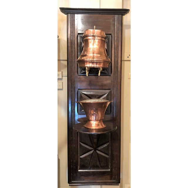 Antique French Provincial Copper Lavabo, Circa 1890. For Sale - Image 4 of 4